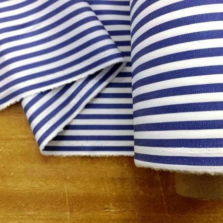 King AP Navy Striped Fabric