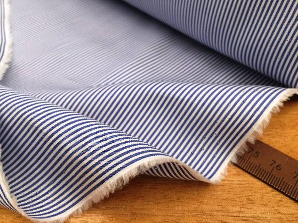 King CD Navy Striped Fabric