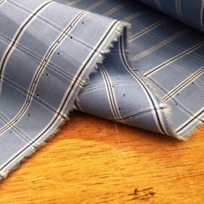 King NNS blue check fabric