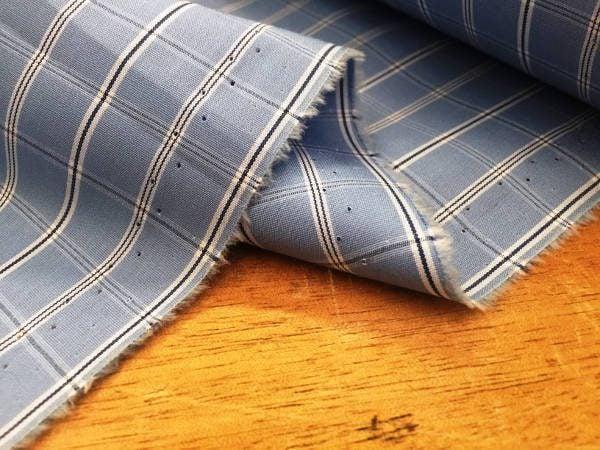 King NNS blue check fabric