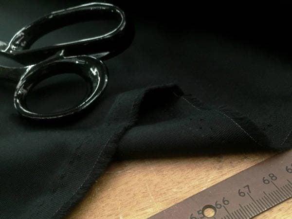 Gaberdine black heavy twill fabric
