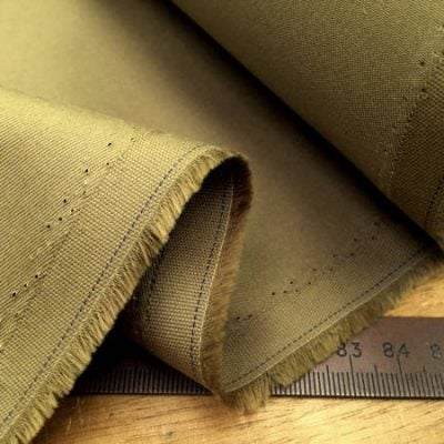 Kingston khaki heavy twill fabric