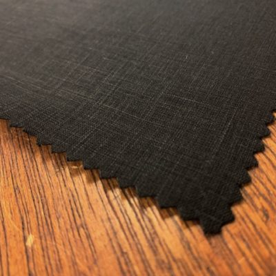 Linen Plain Black Fabric