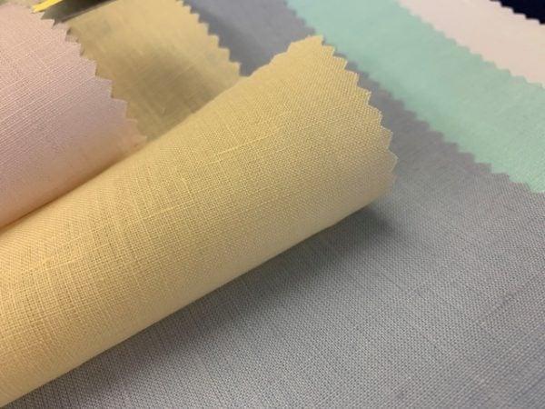 Linen Plain Cream Fabric