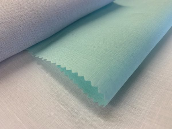 Linen Plain Mint Fabric