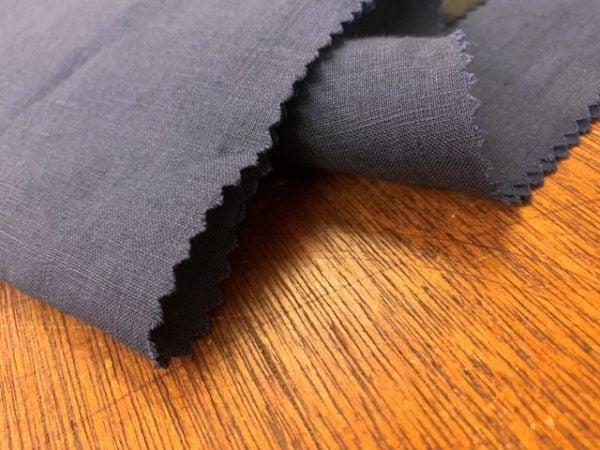 Linen Plain Navy Fabric