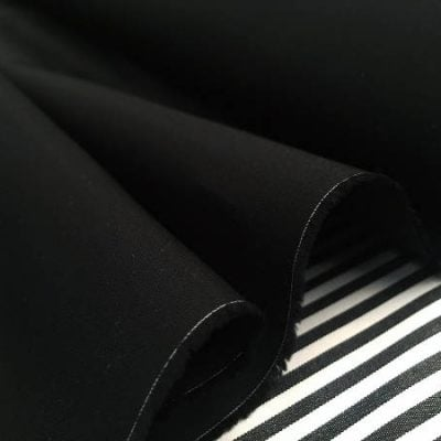 Monarch plain black solid fabric