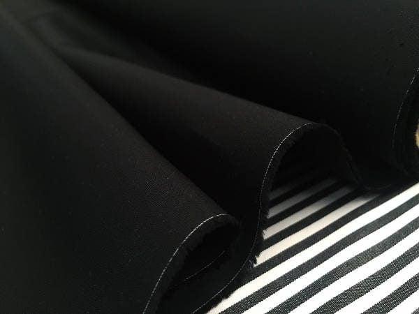 Monarch plain black solid fabric