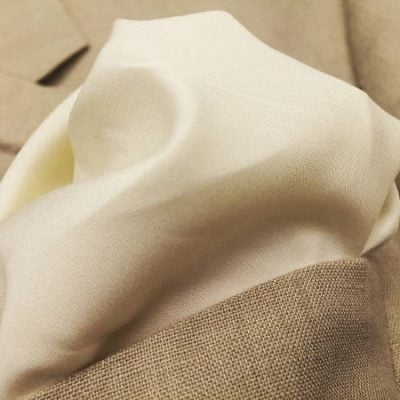 Monarch plain cream solid fabric