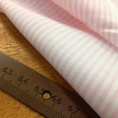 Oxford Ivy Pink Striped Fabric