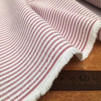 Oxford Ivy Wine Striped Fabric