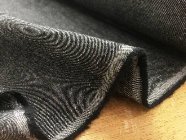 Sterling plain graphite brushed cotton fabric