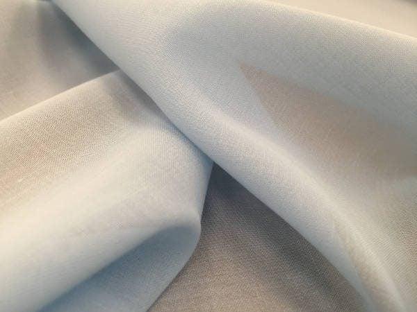 Voile cornflower blue solid fabric