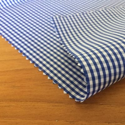 Windsor GH Navy checked Fabric