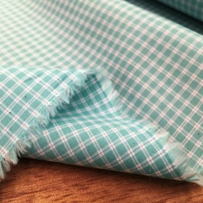 Zephyr ZK aqua check fabric