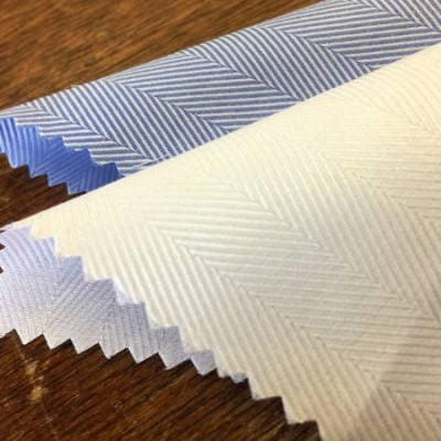 Balmoral 230 white herringbone fabric