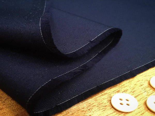 Gaberdine navy heavy twill fabric