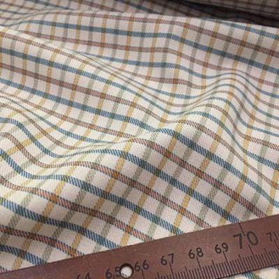 Kendal ski blue check fabric