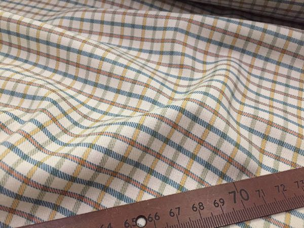 Kendal ski blue check fabric