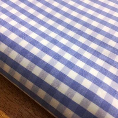 King AQ sky check fabric