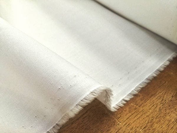 Royal Pinpoint white fabric