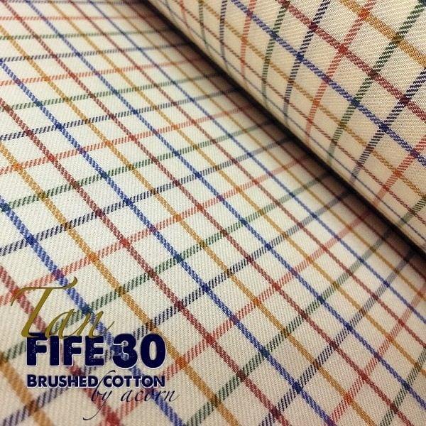 Fife 30 Tan Check Fabric