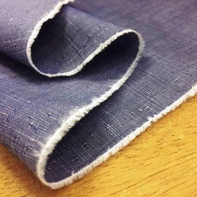 Aruba Plain Navy Blue Cotton & Linen Fabric