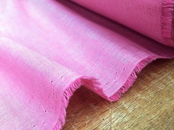 Barbados Plain Pink Linen/Bamboo Fabric