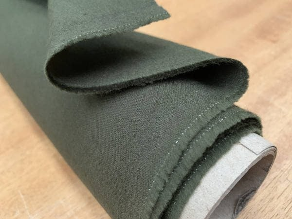 Bronte dark olive moleskin fabric