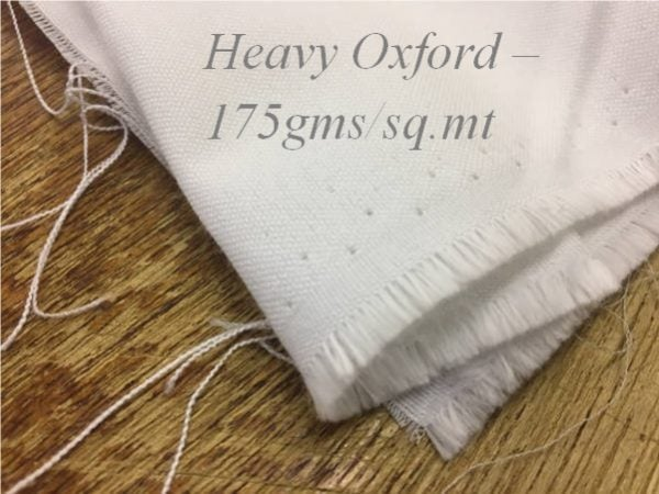 Castle plain white heavy oxford fabric