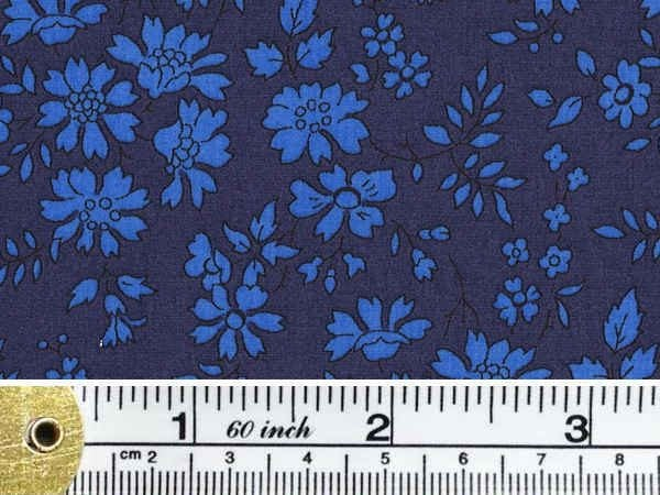 Devonshire 05 indigo printed fabric