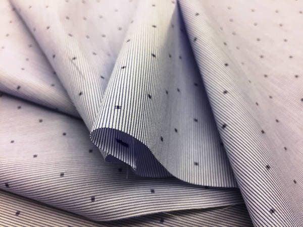 Dynasty 10 Navy Striped Fabric