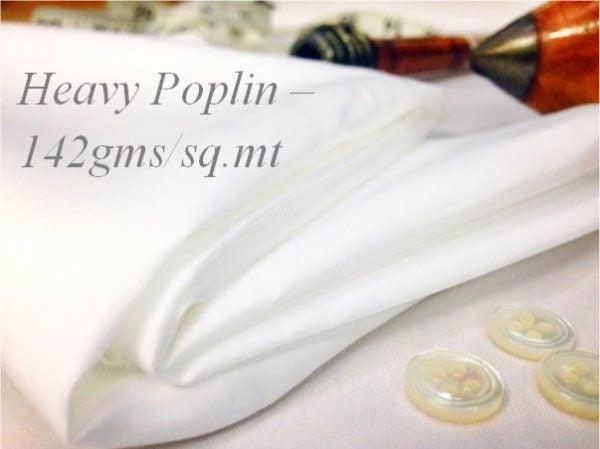 Empire plain white solid fabric heavy poplin