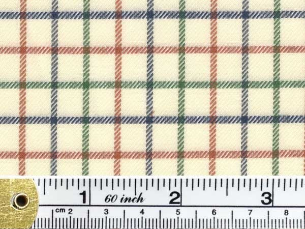 Fife 30 green check fabric