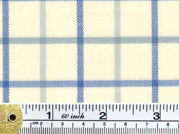Fife 20 blue brushed cotton check fabric