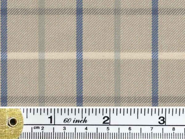 Fife 25 brown check fabric