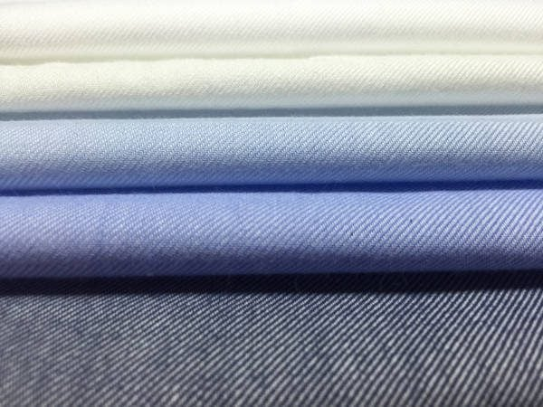 Fife plain navy brushed cotton fabric