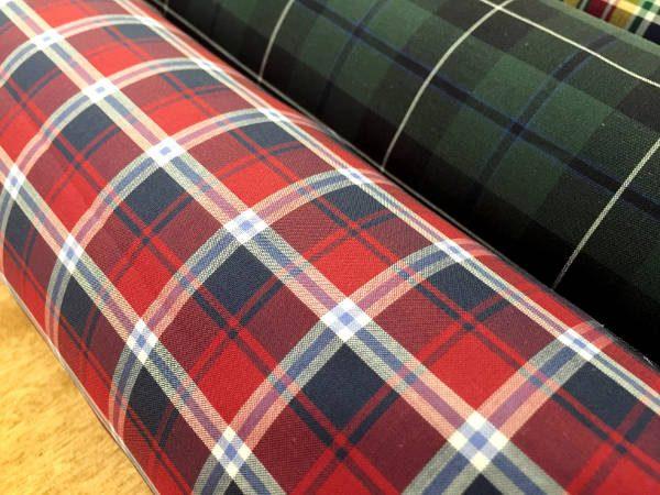 Hampton 114 red check fabric