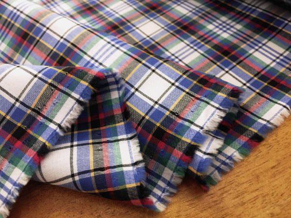 Hampton 115 Blue Check Fabric