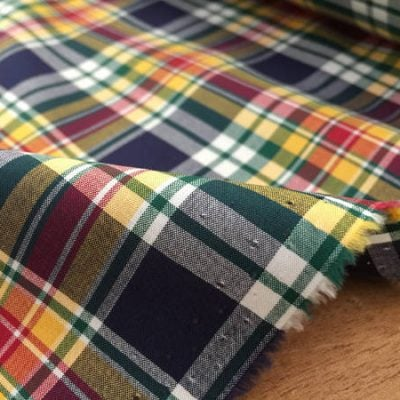 Hampton 123 green check fabric