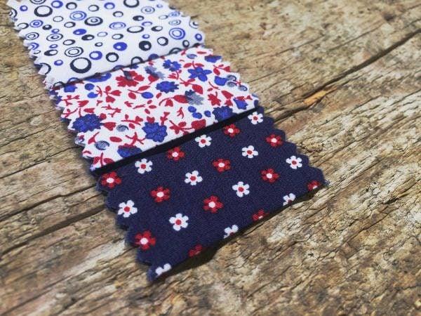 Hampton 308 red printed fabric