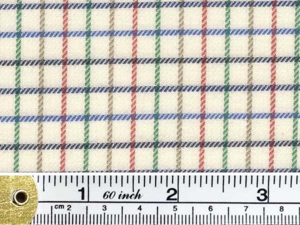 Kendal polo blue check fabric