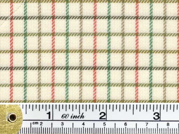 Kendal polo green check fabric