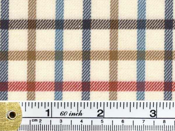 Kendal stag red check fabric