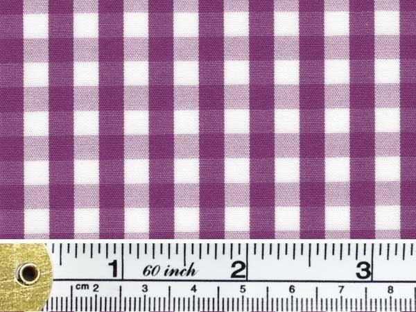 King AQ purple check fabric