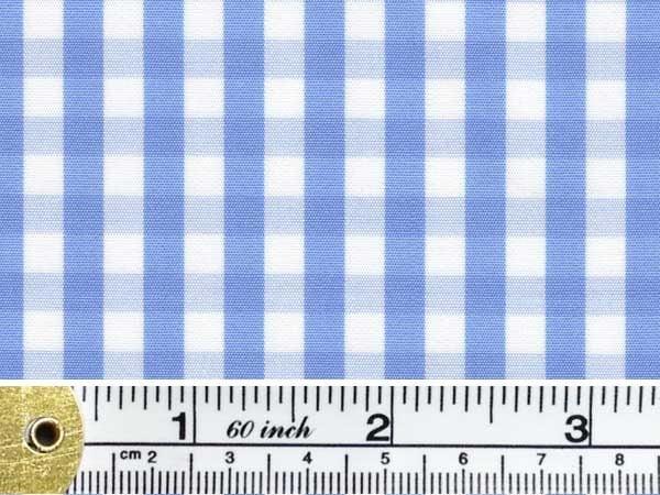 King AQ sky check fabric