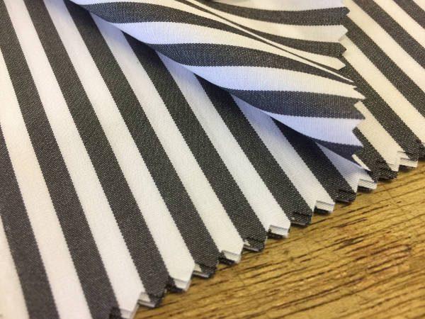 King AP black Striped Fabric