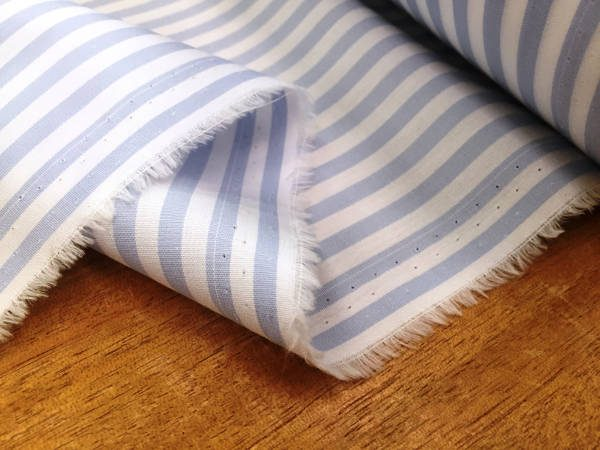 King AP ice blue Striped Fabric