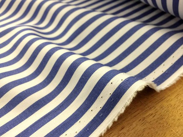 King AP Navy Striped Fabric