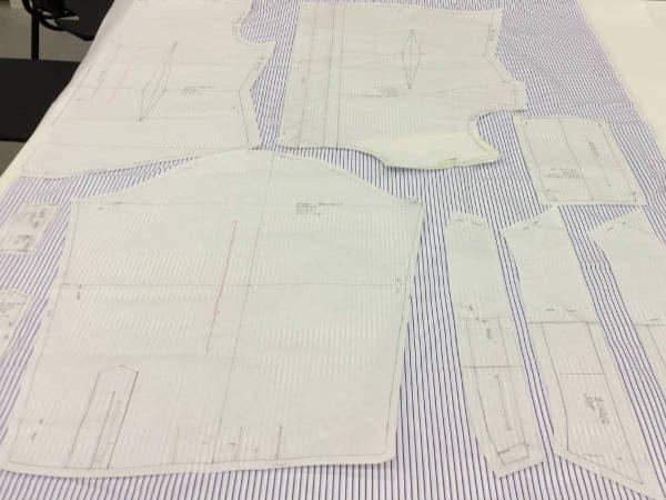 King CJ Navy Striped Fabric